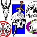 50 scull stencils 150x150 - 50 Skull Stencils (.ai .cdr .eps .jpg)
