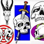 50 scull stencils1 150x150 - Airbrush Fire Reference Pictures Pack to Download