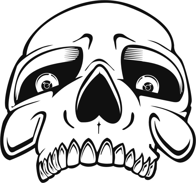 50 Skull Stencils Ai Cdr Eps