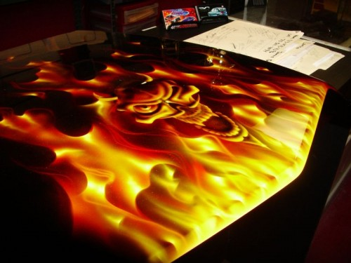 airbrush scull 1 500x375 - Real Flames and Skulls Obsession...