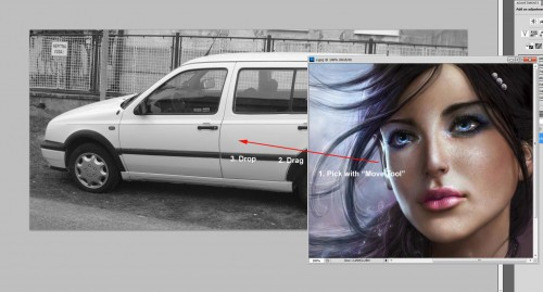 draganddrop 500x269 - Car Airbrush in Photoshop