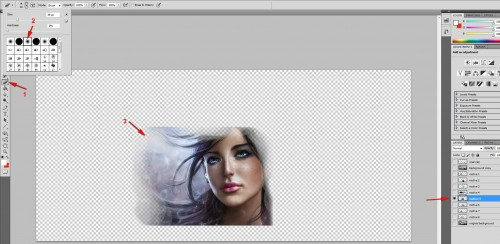 eraser tool motive 500x244 - Car Airbrush in Photoshop