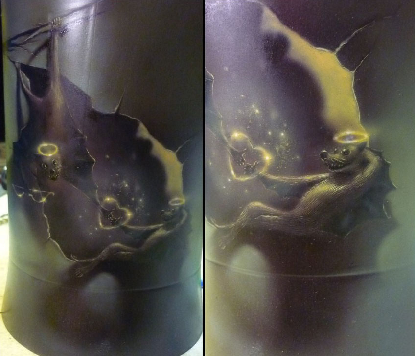 The Story of Love – Airbrush on Electric Kettle