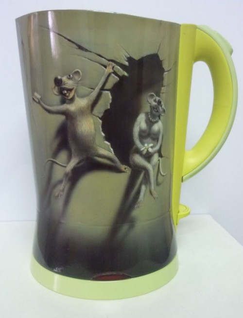 airbrush story of love 44 500x654 - The Story of Love - Airbrush on Electric Kettle