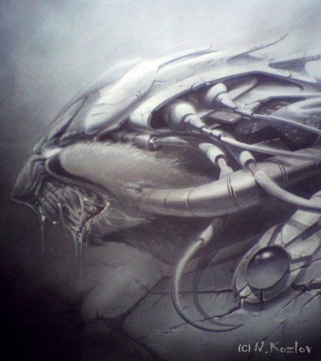 Airbrush Artist 13 660x744 - Mad Airbrush Art by Nikolay Kozlov
