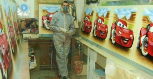 Cars airbrush kozlov 500x257 - Mad Airbrush Art by Nikolay Kozlov