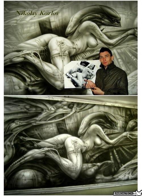 Mad Airbrush Nikolay Kozlov 28 500x688 - Mad Airbrush Art by Nikolay Kozlov