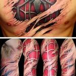 3D tattoo SpiderMan 2 150x150 - Permanent or Temporary Tattoos (3D)