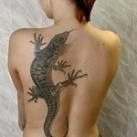 3D tattoo lizard on back 150x150 - Permanent or Temporary Tattoos (3D)