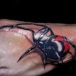 3D tattoo spider foot 150x150 - Permanent or Temporary Tattoos (3D)