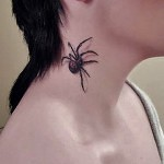 3D tattoo spider neck 150x150 - Permanent or Temporary Tattoos (3D)