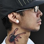 3D tattoo spider neck 2 150x150 - Permanent or Temporary Tattoos (3D)