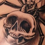 3d tattoo big spider with skull 150x150 - Permanent or Temporary Tattoos (3D)