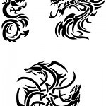 3 dragons 150x150 - Free Stencils Update