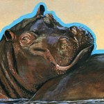 happy hippo 150x150 - J.W. Baker - Fantasy and Wildlife Art
