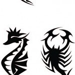 shark scorpio seehorse 150x150 - Free Stencils Update