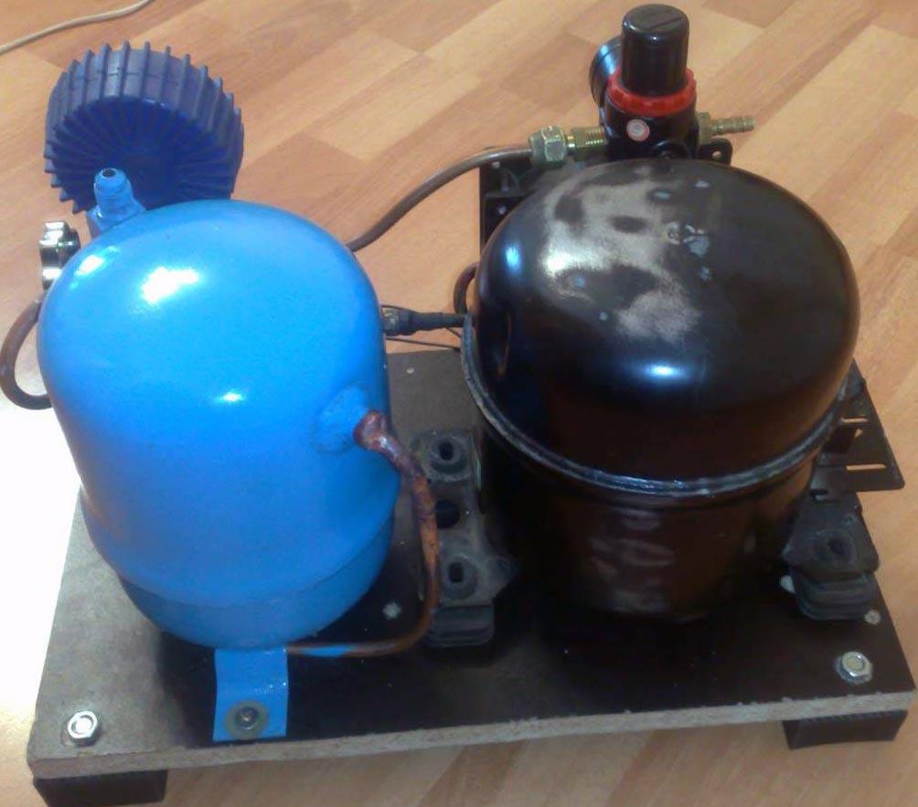 diy air compressor 3 - DIY Small Air Compressor With Active Cooling
