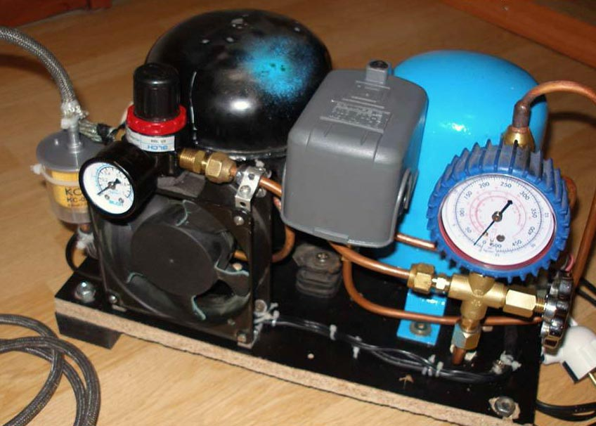 diy air compressor 5 - DIY Small Air Compressor With Active Cooling