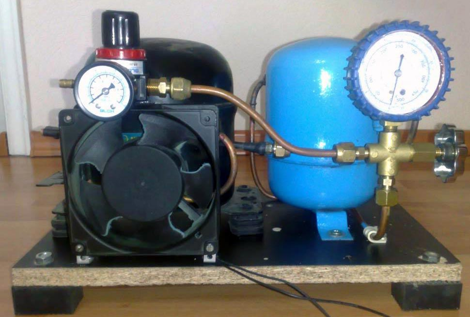 diy air compressor - DIY Small Air Compressor With Active Cooling