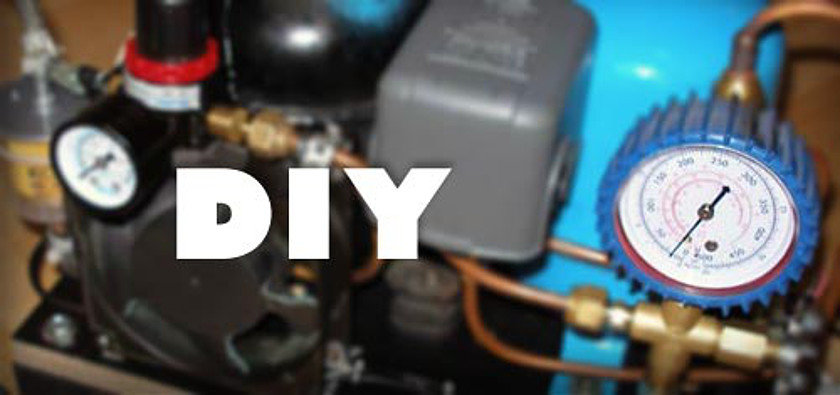 diy compressor1 - DIY Small Air Compressor With Active Cooling