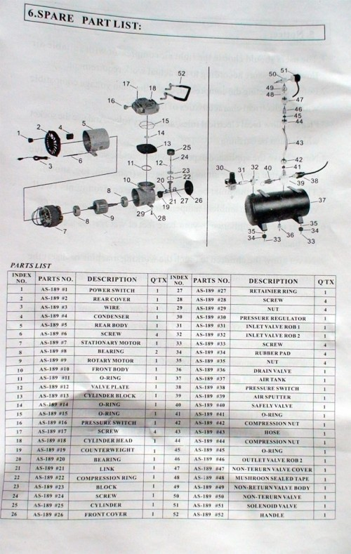 as189 4 500x789 - Airbrush Compressor Review (AS189)