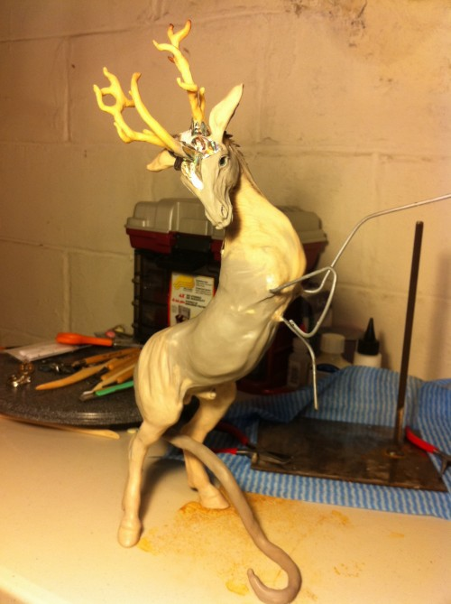kirin sculpture 2 500x669 - Airbrushing On Polymer Clay