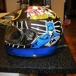 airbrush helmet 2 150x150 - Airbrush Designs from Steven Lane