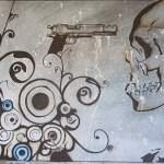 skull gun airbrush motive 150x150 - Airbrush Designs from Steven Lane
