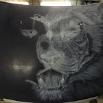 Airbrush Tiger Car Hood 10 150x150 - Airbrush a Tiger on The Car Hood Without Any Stencil