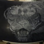 Airbrush Tiger Car Hood 11 150x150 - Airbrush a Tiger on The Car Hood Without Any Stencil