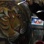 Airbrush Tiger Car Hood 150x150 - Airbrush by Charles Burdick