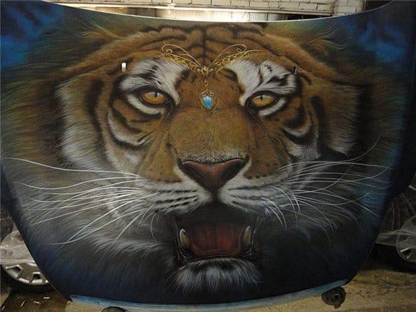 Airbrushed Tiger