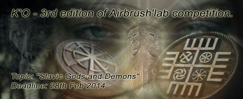 airbrush competition - Airbrush Competition - Slavic Gods and Demons